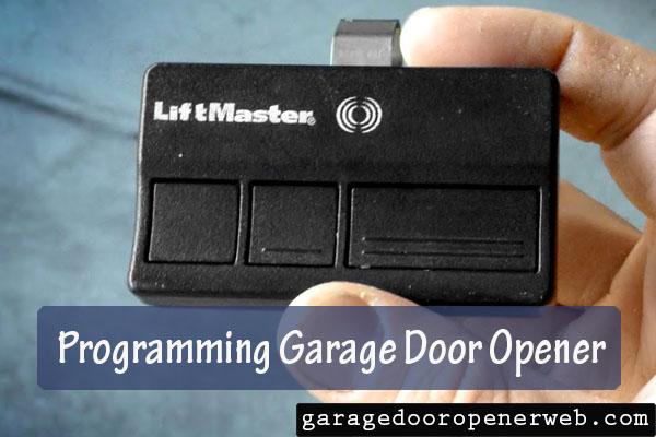 how to program a garage door opener